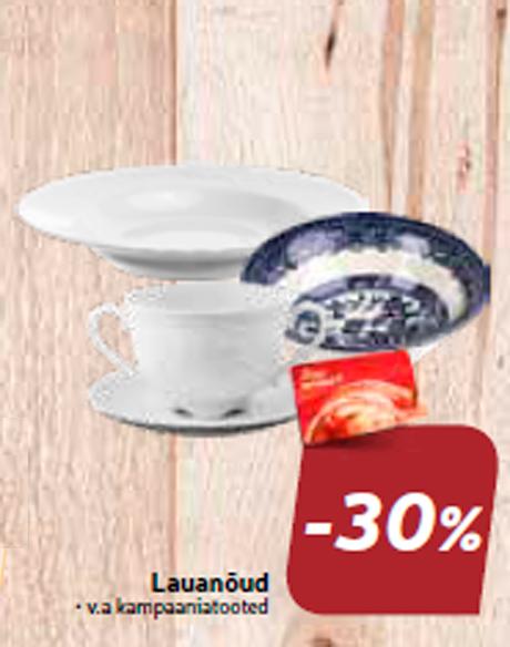 Lauanõud  -30%