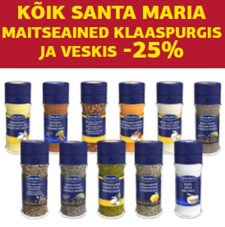 KÕIK SANTA MARIA MAITSEAINED KLAASPURGIS JA VESKIS -25%