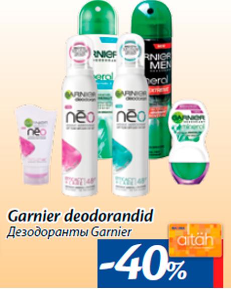 Garnier deodorandid -40%