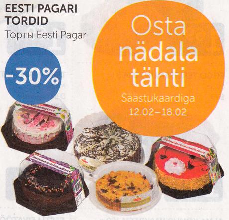EESTI PAGARI TORDID  -30%