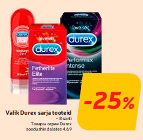 Valik Durex sarja tooteid  -25%