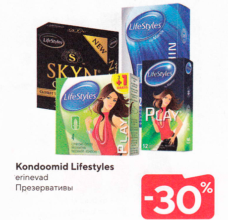 Kondoomid Lifestyles  -30%