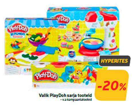 Valik PlayDoh sarja tooteid  -20%