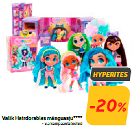 Valik Hairdorables mänguasju****
