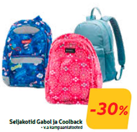 Seljakotid Gabol ja Coolback  -30%