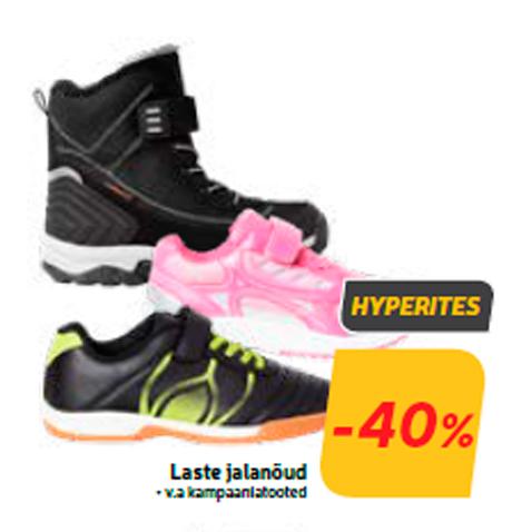 Laste jalanõud  -40%