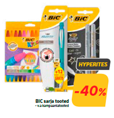 BIC sarja tooted  -40%