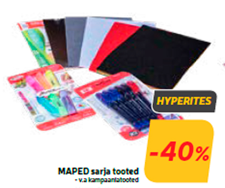 MAPED sarja tooted  -40%
