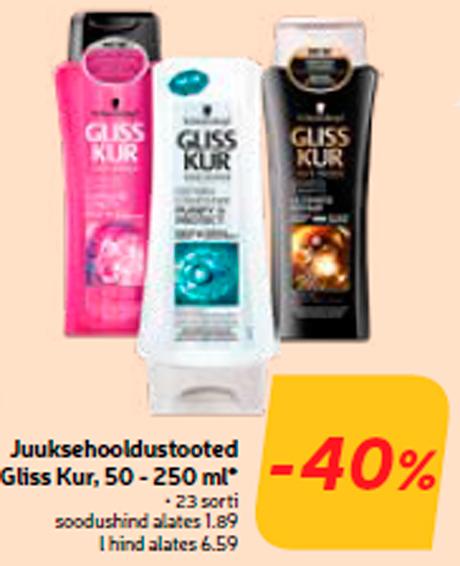 Juuksehooldustooted Gliss Kur, 50 - 250 ml*  -40%