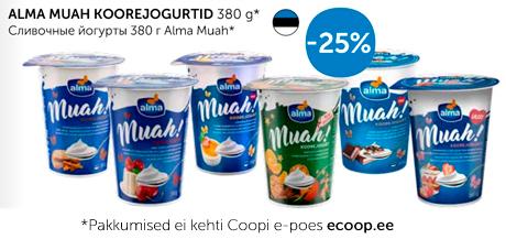 ALMA MUAH KOOREJOGURTID 380 g*  -25%