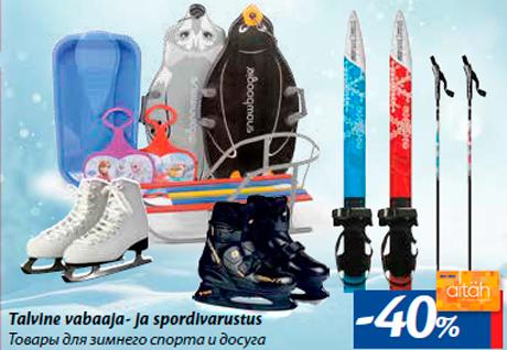 Товары для зимнего спорта и досуга -40%