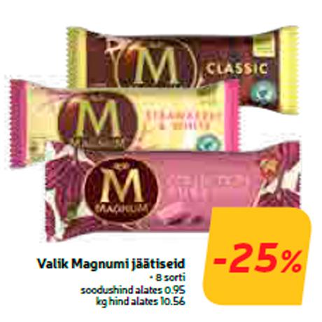 Valik Magnumi jäätiseid  -25%