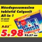 Allahindlus - Nõudepesumasina tabletid Calgonit All-in-1