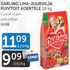 Allahindlus: DARLING LIHA-JUURVILJA KUIVTOIT KOERTELE 10 kg