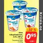 Allahindlus - Alma kohupiimakreem, 2,5%, 380 g* • 3 sorti