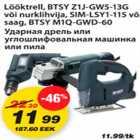 Allahindlus - Lööktrell,BTSY Z1J-GW5-13G või nurklihvja,SIM-LSY1-115 või saag,BTSY M1Q-GWD-60