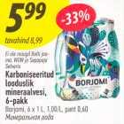 Karboniseeritud looduslik mineraalvesi, 6-pakk