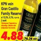 Allahindlus - KPN vein Gran Castillo Family Reserve