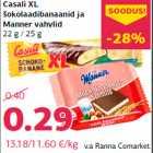 Allahindlus: Casali XL šokolaadibanaanid ja Manner vahvlid