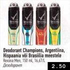 Allahindlus - Deodorant Champions, Argentiina, Hispaania või Brasiilia meestele