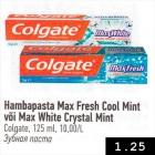 Allahindlus - Hambapasta Max Fresh Cool Mint või Max White Crystal Mint
