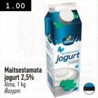 Allahindlus - Maitsestamata jogurt 2,5%
