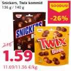 Allahindlus - Snickers, Twix kommid