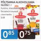 PÕLTSAMAA ALKOHOOLIVABA GLÖGI 1 L