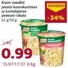 Allahindlus - Knorr nuudlid juustu-koorekastmes ja kartulipüree peekoni-sibula