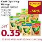 Allahindlus - Knorr Cup a Soup kiirsupp