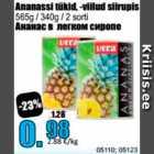 Ananassi tükid, -viilud sidrunis