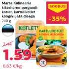 Allahindlus - Marta Kulinaaria kikerherne-porgandikotlet, kartulikotlet köögiviljatäidisega 240 g