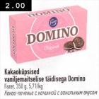 Kakaoküpsised vaniljemaitselise täidisega Domino