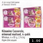 Kiisueine Casserole, erinevad maitsed, 4-pakk