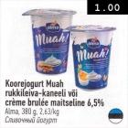 Koorejogurt Muah rukkileiva-kaneeli või crema brulee maitseline 6,5%