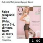 Naiste sukkpüksid Diva, 20 den, suurus 2-5, värv nero, bronzo või neutro