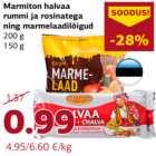 Allahindlus: Marmiton halvaa rummi ja rosinatega ning marmelaadilõigud