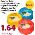 Coburger Baieri sina-valgehallitusjuust, valgehallitust ja jalapeno-paprika valgehallitusjuust 150 g