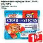 Allahindlus: Krabimaitselised pulgad Smart Choice,