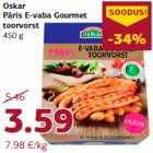 Allahindlus: Oskar Päris E-vaba Gourmet toorvorst 450 g