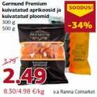 Allahindlus - Germund Premium kuivatatud aprikoosid ja kuivatatud ploomid 300 g 500 g