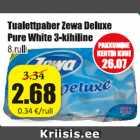 Allahindlus - Tualettpaber Zewa Deluxe Pure White 3-kihiline