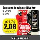 Allahindlus - Šampoon ja palsam Gliss Kur