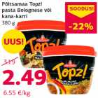 Põltsamaa Topz! pasta Bolognese või kana-karri 380 g