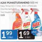 Allahindlus: AJAX PUHASTUSVAHEND 500 ML