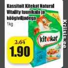Kassitoit Kitekat natural Vitality tuunikala ja köögiviljadega 1 kg
