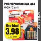 Patarei Panasonic AA, AAA