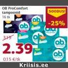 Allahindlus - OB ProComfort tampoonid 16 tk