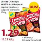 Allahindlus: Lorenz Crunchips WOW kartulikrõpsud