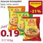 Магазин:Comarket,Скидка:Лапша быстрого приготовления Anacom